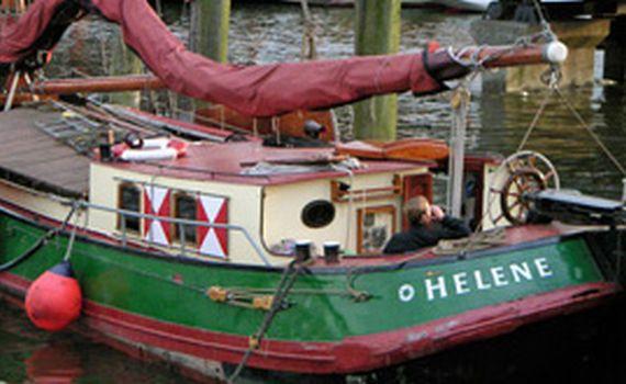 Helene im Museumshafen, Segelschiff