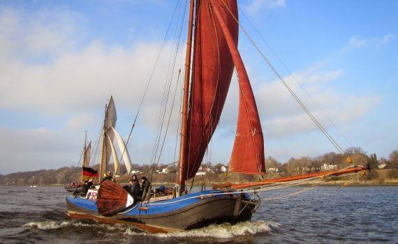 HOOP OP WELVAART in Fahrt, Segelschiff