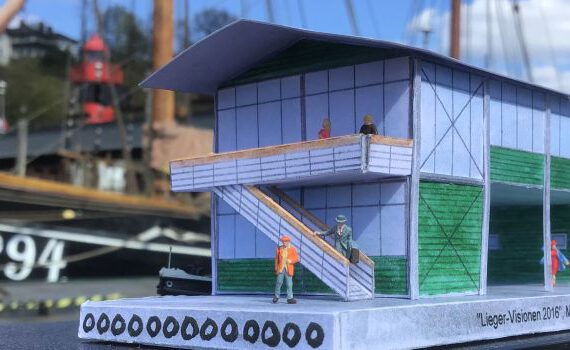 MODELL des INFORMATIONSZENTRUMS Museumshafen Oevelgönne